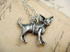 CHIHUAHUA with Sweater  Silver Plated Charm!!!