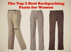 Here you go! These are my top 3 best backpacking pants for women that you'll love, with features and specs so you can shop smart, start here!