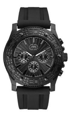 Men's Wrist Watches - Marc Ecko Mens E16515G1 The Velocity Custom Molded PU Strap Watch -- Learn more by visiting the image link.