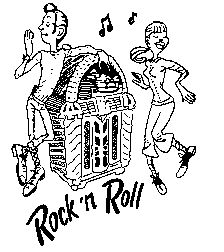 Coloring page rock and roll coloring