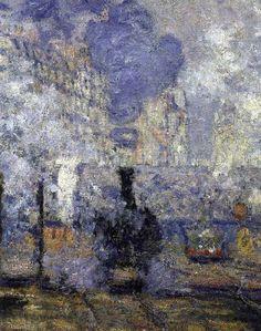 Claude Monet 1840-1926   La Gare St Lazare, Parigi 1877   Tutt'Art@   Pittura * Scultura * Poesia * Musica  