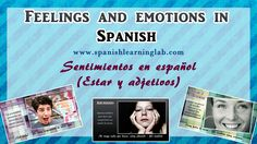 Emotions and feelings in Spanish
