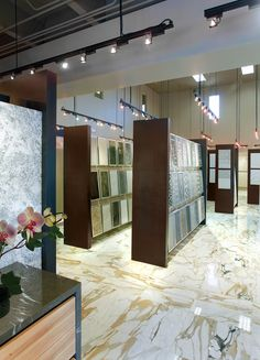 Opustone Ft. Lauderdale Showroom With Paonazzo Marble Floors · Tile  ShowroomShowroom IdeasShowroom ...