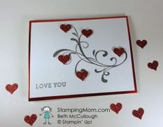 Stampin' Up! CAS Valentine made with Everything Eleanor stamp set, designed by demo Beth McCullough.  See more card and gift ideas at www.StampingMom.com #StampingMom