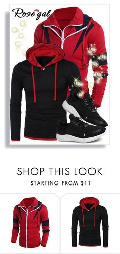 """""""Rosegal 41."""" by belma-cibric ❤ liked on Polyvore featuring men's fashion, menswear, shirt, coat, man and rosegal"""