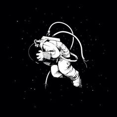 #Astronaut #Space #Uzay  #Cosmos #Galaxy #Drawing #Art #Illustration Amazing   Follow for more! Tumblr: @Bedenehapsedilenruhlar