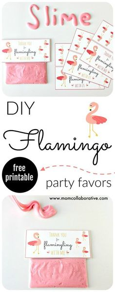 FREE printable flamingo party favor for your next flamingo pool party! Thanks for Flamingling!