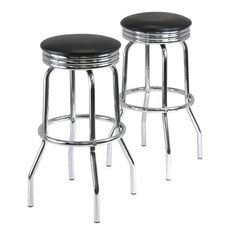 Winsome Wood 93028 Summit Swivel Stools (Set of 2)