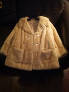 Fabulous 1960's Vintage Oleg Cassini Honey Blond Mink Jacket. Available from us this weekend at NYC Hell's kitchen flea market from WildpalmVintage.com.