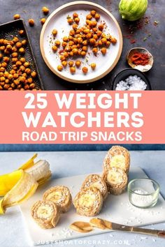 Heading out on a summer road trip and need some ideas for snacks? I've put together 25 easy Weight Watchers snack recipes that go beyond fruit and veggies. Plus they're all under 3 Freestyle Points ea Weight Watchers Snacks, Weigh Watchers, Weight Watchers For Men, Road Trip Snacks, Travel Snacks, Road Trips, Healthy Snacks For Weightloss, Healthy Desserts, Healthy Foods