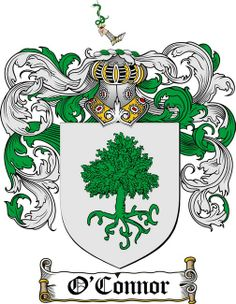O'CONNOR FAMILY CREST - COAT OF ARMS gifts at www.4crests.com