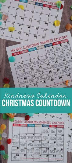 Kindness Calendar Christmas Countdown - use this calendar to celebrate the holidays with random acts of kindness throughout the month. www.thirtyhandmadedays.com