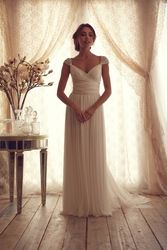 Online Shop Simple White Beach Wedding Dresses Style 2014 Bridal Dresses Open Back vestidos de casamento|Aliexpress Mobile