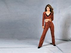 Wallpaper of Shania for fans of Shania Twain 29447860 Best Country Singers, My Boo, Cool Countries, Sophia Loren, Celebs, Celebrities, Gorgeous Women, Jumpsuit, Costumes