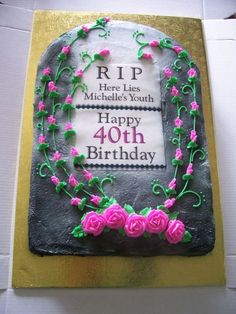 Tombstone Cake on Cake Central