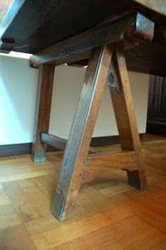 St. Thomas guild - medieval woodworking, furniture and other crafts: A 15th century trestle table from Bruges