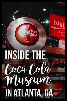 Looking for things to do in Atlanta, GA? Check out the Coca Cola Museum, also known as the World of Coca Cola, where you can learn all about this iconic brand and even sample a variety of Coca Cola beverages from around the world! Coca Cola Museum Atlanta, World Of Coke Atlanta, Usa Places To Visit, Visit Usa, Atlanta Museums, Atlanta Travel, World Of Coca Cola, Atlanta Georgia, Athens Georgia