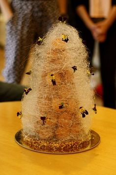 Adriano Zumbo's Croquembouche Zumbo's Just Desserts, Fancy Desserts, Delicious Desserts, Dessert Recipes, Fancy Recipes, Easter Desserts, Zumbo Recipes, Zumbo Desserts, Zumbo Cakes