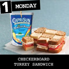 Go Back to School with these Kid-Approved Lunch Meals from Winn-Dixie. Today: Checkerboard Turkey Sandwich.
