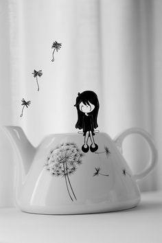 #dandelion #illustration #tea    I was waiting