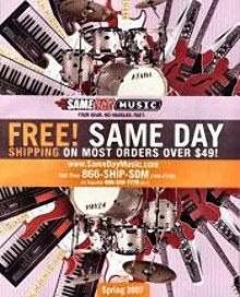 Special Offer from Same Day Music: Get Free Shipping on orders of $29 or more