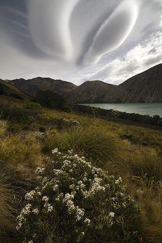 Asperatus clouds - Location: Tennyson, New Zealand - by Francis Carmine
