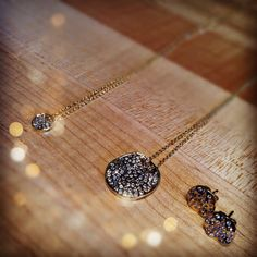Delicate, gold and diamond necklaces and studs go with everything!