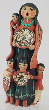 Carol Lucero Gachupin Standing Jemez Storyteller Pottery