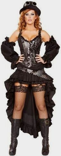 These Steampunk dresses capture the Victorian era silhouette and await your creative spin.Steampunk girl costumes make it easy to dress up fast. Moda Steampunk, Style Steampunk, Steampunk Couture, Steampunk Dress, Steampunk Cosplay, Victorian Steampunk, Steampunk Clothing, Steampunk Lingerie, Steampunk Drawing
