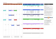 Content Marketing Calendar Template  Blank Calendar Printing