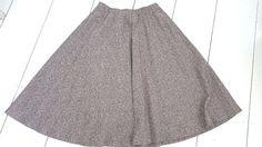 Accordion Pleated Skirt Size Medium School Girl Vintage 70s Brown Hipster Retro #Graff