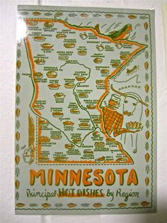 This is so awesome.  Minnesota hot dishes by region.