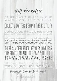 stuff does matter