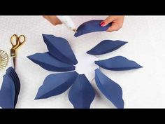 Paper Flower Tutorial Using Template #22 - YouTube