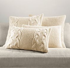 For Winter - Pillows & Throws   Restoration Hardware - can I make these from sweaters from Goodwill?