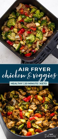 Healthy Air Fryer Chicken and Veggies Healthy Air Fryer . - Healthy Air Fryer Chicken and Veggies Healthy Air Fryer Chicken and Veggies - Air Frier Recipes, Air Fryer Oven Recipes, Air Fryer Dinner Recipes, Air Fryer Chicken Recipes, Air Fryer Recipes Vegetables, Veggie Recipes, Cooking Recipes, Healthy Recipes, Delicious Recipes