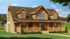 Crestview - Log Home / Cabin Plans