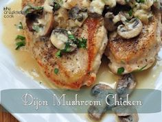 Dijon Mushroom Chicken - a quick and easy weeknight meal! | The Creekside Cook