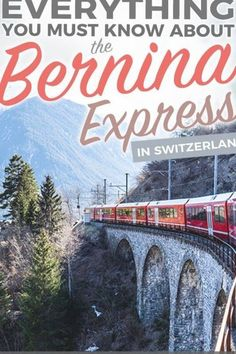 A detailed guide on everything you need to know about the Bernina Express, one of the most scenic train rides in Switerland and in the world! This guide includes must-knows before you book your Swiss train trip with the Bernina Express, how to get the best deals and more. #switzerland #travel #berninaexpress Train Trip, Train Travel, Budget Travel, Travel Guide, Bernina Express, Scenic Train Rides, Crete Greece, Culture Travel, Foodie Travel