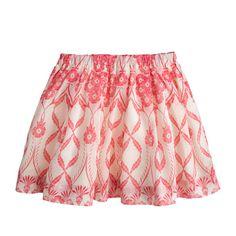 J.Crew - Girls' pleated organdy skirt in trellis floral