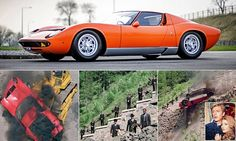 For nearly 50 years movie fans have believed that the orange Lamborghini Miura that crashes in a ball of flames in the Alps in the opening sequence of The Italian job was left a complete write off.