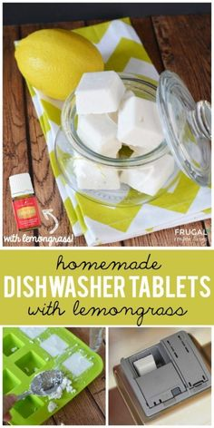 Dishwasher Tablets with Lemongrass on Frugal Coupon Living. Essential oil recipes and ideas. Replace with lemon if desired.Homemade Dishwasher Tablets with Lemongrass on Frugal Coupon Living. Essential oil recipes and ideas. Replace with lemon if desired. Deep Cleaning Tips, House Cleaning Tips, Cleaning Hacks, Kitchen Cleaning, Cleaning Solutions, Diy Hacks, Green Cleaning, Homemade Cleaning Products, Natural Cleaning Products