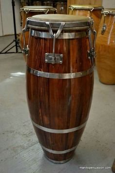 """Requena Mahogany Quinto Conga Drum made in La Habana, Cuba... restored and owned by Ryan """"Manito"""" Wendel..."""