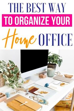 How to organize your home office may seem impossible. Home offices tend to become a dumping ground for a lot of clutter. Learn the best way to organize your home office to improve efficiency and enjoy your home working space. #homebyjenn #homeoffice #organization Home Design, Home Office Design, Home Office Decor, Home Decor, Cozy Office, Design Ideas, Office Furniture, Office Organization At Work, Organization Hacks