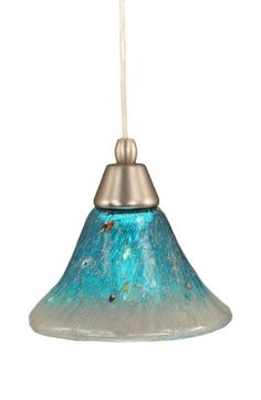 Toltec Lighting 22-BN-458 Cord Mini-Pendant Light Brushed Nickel Finish with Teal Crystal Glass, 7-Inch Toltec Lighting http://www.amazon.com/dp/B008AU0A84/ref=cm_sw_r_pi_dp_-SRWub0D33X7M