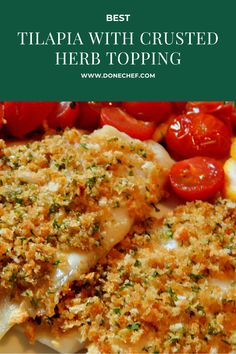 I propose today, a recipe of Tilapia with Crusted Herb Topping a great white fish that can be combined with almost any fish, healthy and fast You can try it at home for a nice evening with the family Tilapia Fish Recipes, Fried Rice, Herbs, Dinner, Nice, Cooking, Healthy, Ethnic Recipes, Food
