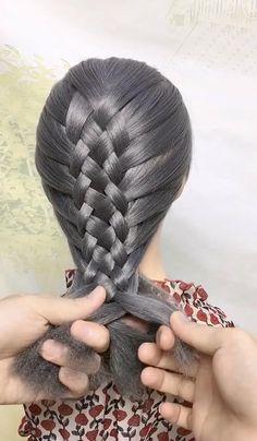 Hairdo For Long Hair, Easy Hairstyles For Long Hair, Braids For Short Hair, Front Hair Styles, Medium Hair Styles, Curly Hair Styles, Hair Style Vedio, Hair Tutorials For Medium Hair, Hair Upstyles