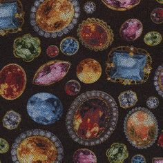 "olor: Multi on Black Content: 80% Polyester, 20% Spandex Weight: 190 GSM Width: 57""  Add to Swatch Wall  Price: $16.00 per yd"