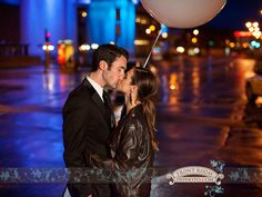 Experience Engagement – Gina & Jeff! » Milwaukee Wedding Photography – Front Room Photography Milwaukee Photographer- late night engagement - city lights - urban - rainy night photography - balloon - save the date - glamour - elegant - engaged