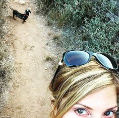 Amie and Tallulah on a hike! #FlippingVegas #ScottYancey